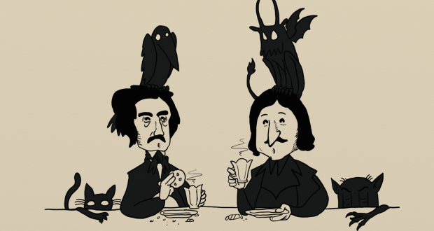 gogol_and_poe_by_johncheshirsky-d7aeu9y